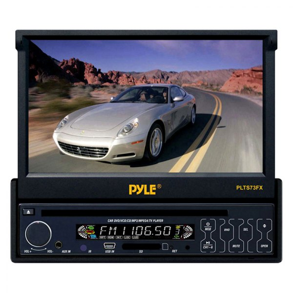 Pyle® - Single DIN In-Dash DVD/CD/MP3/MP4/USB/SD/AM-FM Player with 7'' Touch Screen TFT-LCD Monitor