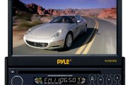Pyle® - Single DIN In-Dash DVD/CD/MP3/MP4/USB/SD/AM-FM Player with 7'' TFT-LCD Monitor