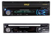 Pyle® - Single DIN DVD/CD/MP3/AM/FM Receiver with 7'' Touch Screen TFT-LCD Monitor