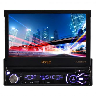 "Pyle® - Single DIN DVD/CD/AM/FM/MP3/MP4 Receiver with 7"" Motorized Touchscreen Display, Built-In Bluetooth"