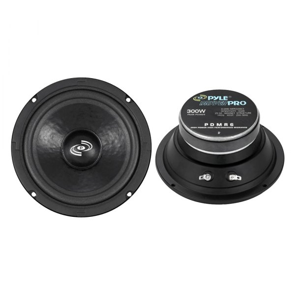 "Pyle® - 6.5"" 300W High Power High Performance Mid-Range Subwoofer Driver"