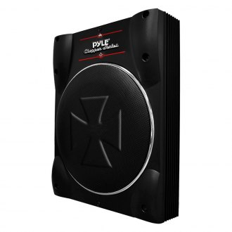 "Pyle® - 10"" Chopper Series Low Profile Super Slim Sealed Powered 1000W Subwoofer Enclosure"