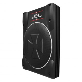 "Pyle® - 8"" Chopper Series Single Super Slim Low Profile Sealed Powered 600W Subwoofer Enclosure"