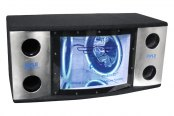 "Pyle® - Dual 12"" 1200W 2-Way Bandpass Box with Blue Woofer Rings"