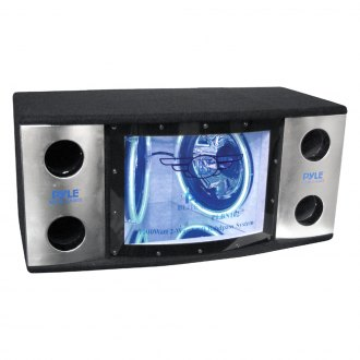 "Pyle® - 12"" Blue Label Series Dual 2-Way Bandpass Passive 1200W Subwoofer Enclosure with Blue Subwoofer Rings"