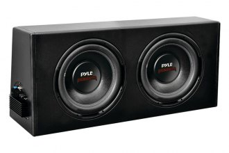 "Pyle® - 12"" 800W 2"" Voice Coil Dual Slim-Design Powered Enclosure System"