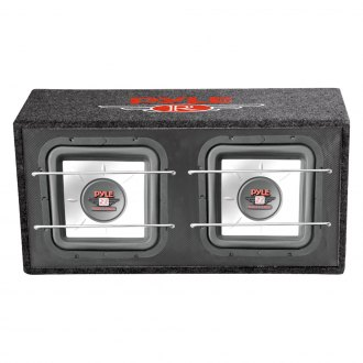 Pyle® - 10'' Red Label Series Dual Vented Pasiive 1000W Subwoofer Enclosure