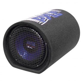 "Pyle® - 8"" Blue Wave Series Single Carpeted Tube Passive 400W Subwoofer Enclosure"