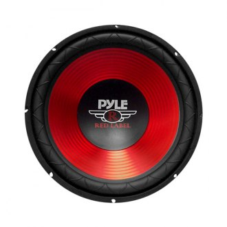 Pyle® - 10 600W Red CD Wave Electro-Plated Cone Subwoofer