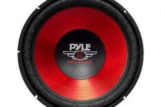 "Pyle® - 10"" Red CD Wave Electro-Plated Cone 600W Subwoofer"