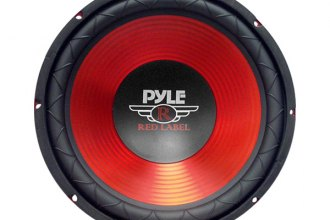 "Pyle® - 12"" Red CD Wave Electro-Plated Cone 800W Subwoofer"