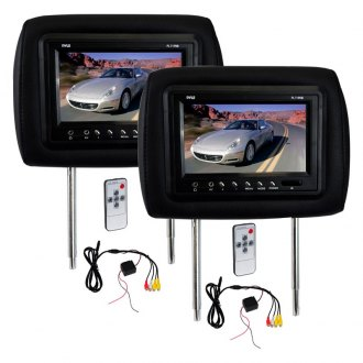 "Pyle® - 7"" Black Headrest TFT Monitor with Built-In IR Transmitter"
