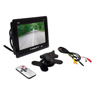 "Pyle® - 7"" Black Widescreen TFT Monitor with Headrest Shroud and Universal Stand Mount"