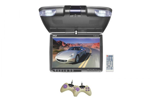 Pyle® - 12.1'' Flip Down TFT Monitor with Built-In DVD Player