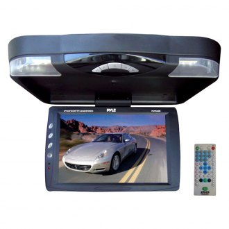 "Pyle® - 14.1"" Black Flip Down TFT Monitor with Built-In DVD Player"