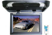 Pyle® - 17'' Flip Down Monitor with Built-In DVD Player