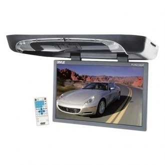 Pyle® - 19'' Flip Down Monitor with Built-In DVD Player