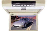 Pyle® - 9.4'' Flip Down Monitor with Built-In DVD Player