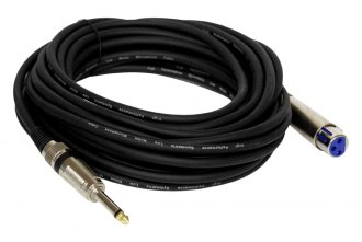 Pyle® - 30' 1/4 Male to XLR Female Professional Microphone Cable