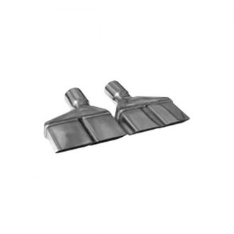 Pypes® - 304 SS Dual Rectangular Angle Cut Clamp-On Exhaust Tips