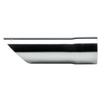 Pypes® - 304 SS Round Angle Cut Slip-Fit Polished Exhaust Tip