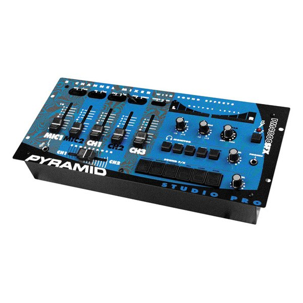 pyramid 174 pm4800 3 channel rack mount stereo dj mixer