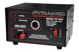 Pyramid® - 10A 13.8V Power Supply with Cigarette Lighter Adapter