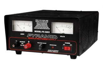 Pyramid® - 32 Amp Adjustable Power Supply with Ammeter and Voltmeter