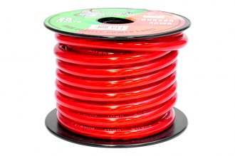 Pyramid® - 4 Gauge Clear Red Power Wire