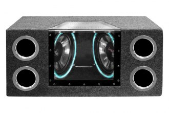 "Pyramid® - 12"" Dual 1200 Watt Bandpass Speaker System without Neon Accent Lighting"