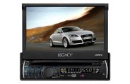 "Pyramid® - Legacy Single DIN DVD/CD/MP3/AM/FM Player with 7"" TFT-LCD Monitor"