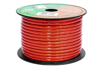 Pyramid® - 10 Gauge Clear Red Power Wire