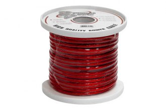 Pyramid® RPR825 - 8 Gauge 25' Clear Red Power Wire