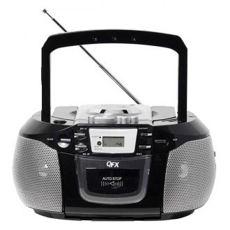 QFX® - Portable Radio With CD Player Cassette and USB Slot