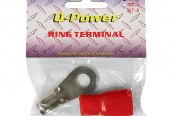 QPower® - 0 Gauge Red Ring Terminal