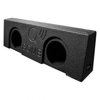 "QPower® - 10"" 2-Holes Forward-Firing Sealed Subwoofer Enclosure"
