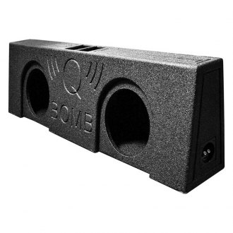 "QPower® - 12"" 2-Holes Forward-Firing Vented Subwoofer Enclosure"