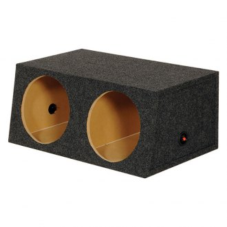 "QPower® - 10"" Large Bass Series 2-Holes Sealed Subwoofer Box"