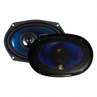 "QPower® - 6"" x 9"" 3-Way 700W Coaxial Speakers"