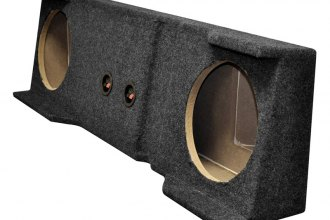 "QPower® - 10"" Dual Empty Subwoofer Box"