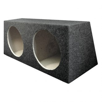 "QPower® - 10"" Hatchback Series Dual Holes Subwoofer Box"