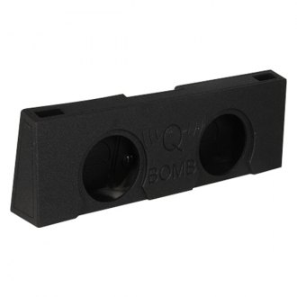 "QPower® - 12"" QBomb Series 2-Hole Upward-Firing Sealed Subwoofer Enclosure"
