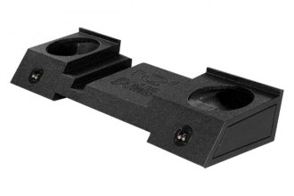 "QPower® - 10"" QBomb Series Dual Subwoofer Box"