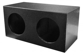 "QPower® - 10"" QBomb Series Dual Sealed Empty Subwoofer Box"
