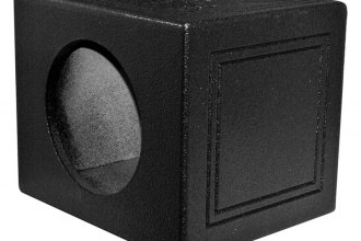 "QPower® - 10"" Single Sealed Subwoofer Enclosure with Bed Liner Spray"