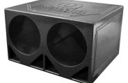 "QPower® - 10"" QBomb Series Dual Round Holes Ported Subwoofer Turbo Box"