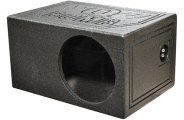 "QPower® - 10"" QBomb Series Single Round Hole Subwoofer Box"