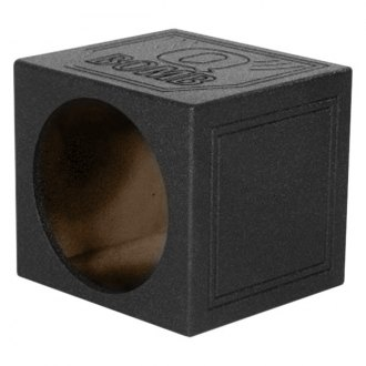 "QPower® - 12"" QBomb Series Single Round Holes Sealed Sprayed Subwoofer Box"