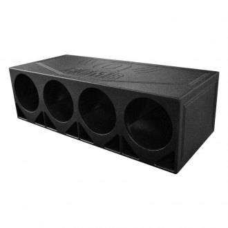 "QPower® - 12"" 4 Hole Turbo Ported Empty Subwoofer Box"
