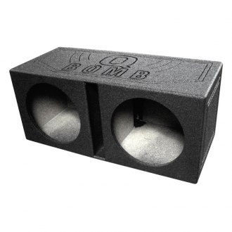 "QPower® - 12"" QBomb Series Dual Holes Vented Sprayed Subwoofer Box"